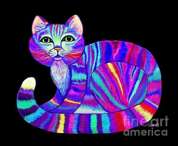 Nick Gustafson - Colorful Rainbow Kitty