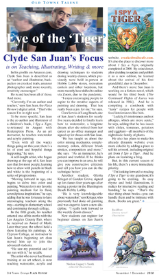 Author-Artist Clyde San Juan Featured Article In Orange Plaza Review, Orange, CA