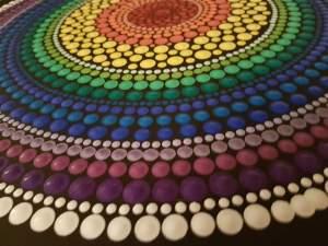 The first Healing Art Dot Painting Exhibition Ljubljana