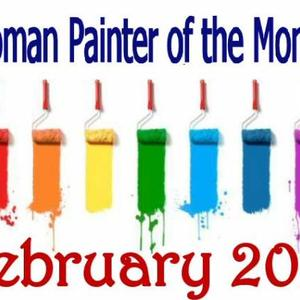 Women Painter of the month - FEBRUARY 2018 - Only artworks accepted into the group Art Competition